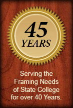 45 years of framing graphic